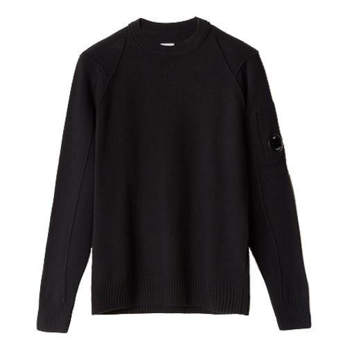Lambswool Lens Sweater 999BLACK