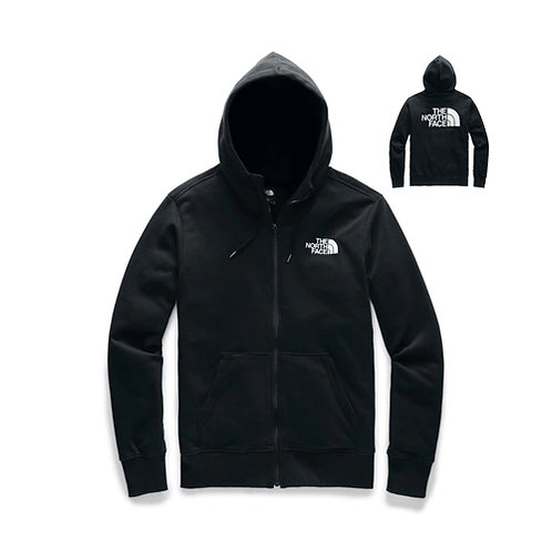 Men's Half Dome Full Zip Hoodie - Black, White