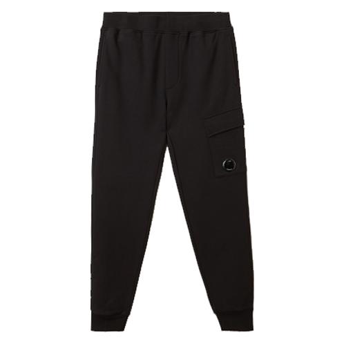 Diagonal Raised Fleece Lens Pocket Sweatpants 999 BLACK