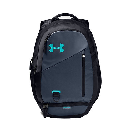 UA Hustle 4.0 Backpack - Downpour Gray, Black