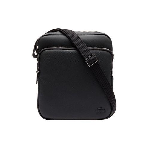 Men's Classic Petit Piqué Double Bag - Black