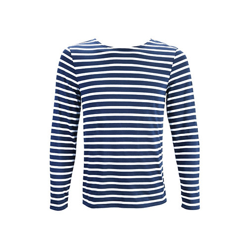 MINQUIERS MODERNE Authentic Breton Stripe Shirt - Marine, Neige