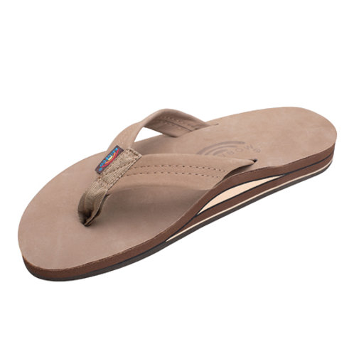 Single Layer Premier Leather with Arch Support - Dark Brown