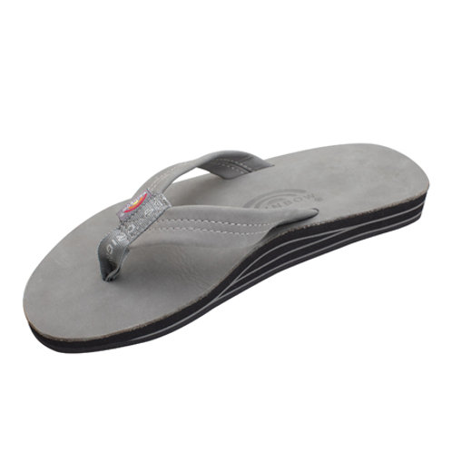 Double Layer Premier Leather with Arch Support - Cool Grey