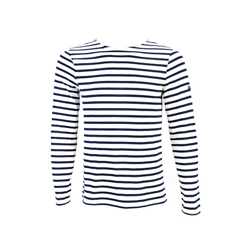MINQUIERS MODERNE Authentic Breton Stripe Shirt - Ecru, Marine