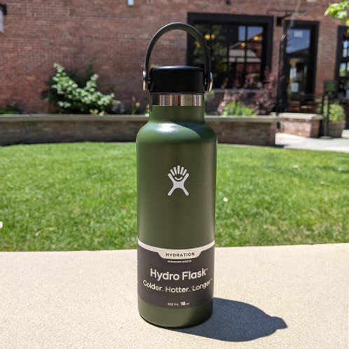 Hydro Flask 18 oz Standard Mouth Olive