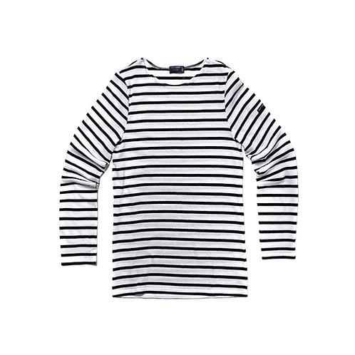 MINQUIERS MODERNE Authentic Breton Stripe Shirt - Neige, Nori
