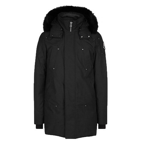 Men's Stirling Parka - Black, Black Fox Fur