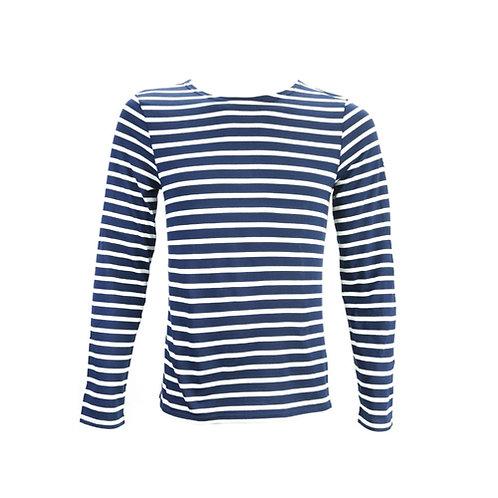 MINQUIERS MODERNE Authentic Breton Stripe Shirt - Marine, Ecru
