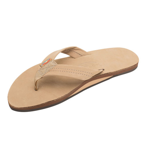 Single Layer Premier Leather with Arch Support - Sierra Brown