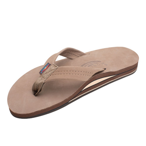 Double Layer Premier Leather with Arch Support - Dark Brown