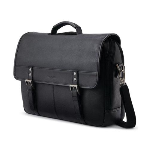 Classic Leather Flapover - Black