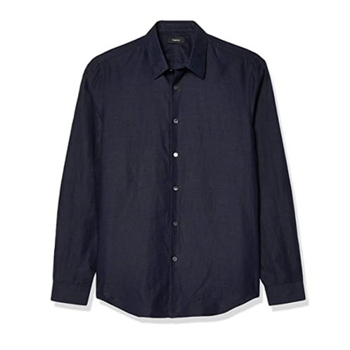 Irving Shirt In Essential Linen Twill_SPACE