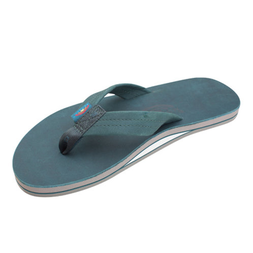 Premier Turquoise Leather Single Layer Arch Grey Midsole