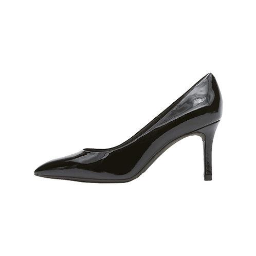 Women's Total Motion 75mm Plain Heel - Black Patent