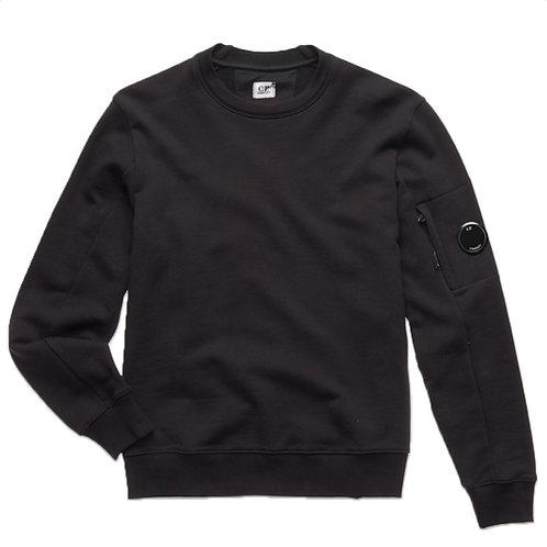 Diagonal Raised Fleece Lens Crew Sweatshirt - Black