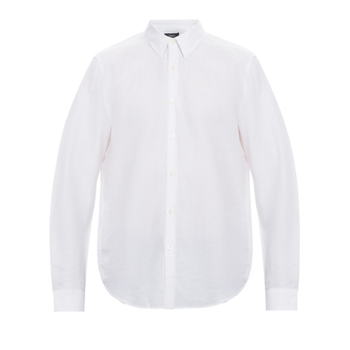 Irving Shirt In Essential Linen Twill_WHITE