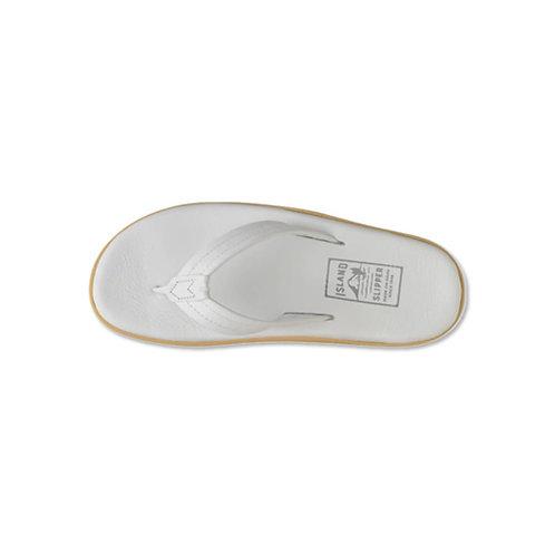Men's Leather Slipper - White