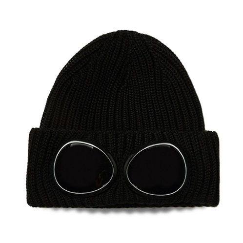 Merino Wool Goggle Beanie 999 BLACK