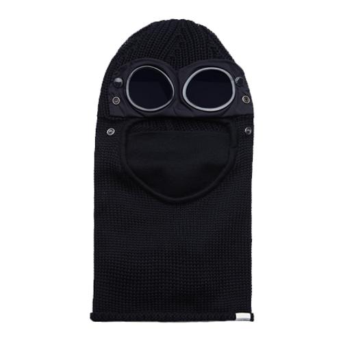 Merino Wool Goggle Balaclava 999 BLACK