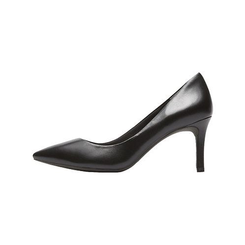 Women's Total Motion 75mm Plain Heel - Black Leather