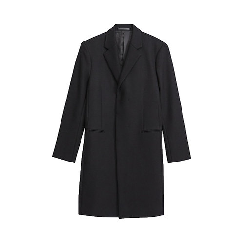 Traceable Melton Monroe Coat - Black