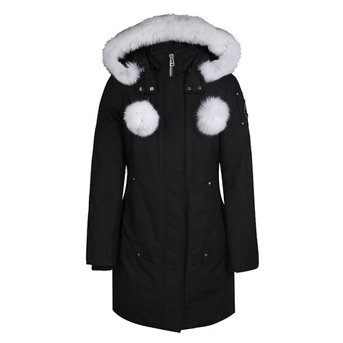 Women's Stirling Parka - Black, Natural Fox Fur