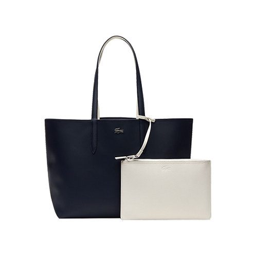Women's Anna Reversible Bicolour Tote Bag -Dark Sapphire Marshmallow
