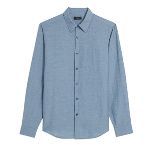 Irving Shirt In Essential Linen Twill_POSEIDON