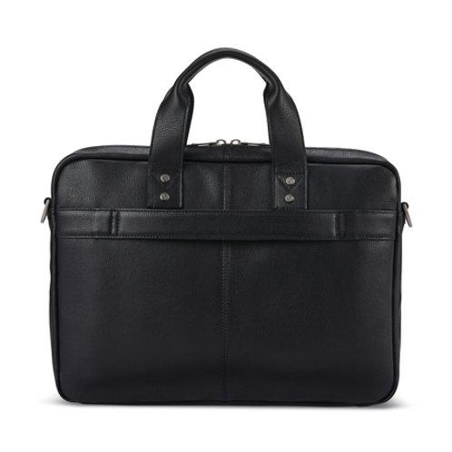 Classic Leather Slim Brief - Black