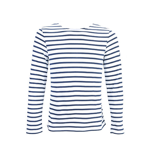 MINQUIERS MODERNE Authentic Breton Stripe Shirt - Neige, Marine