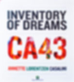 copertina libro Annette Lorentzen Casalini CA43 'Inventory of Dreams 1' (2014) realizzato in occasione della mostra antologica presso il Palazzo della Regione Lombardia con il patrocinio della Regione Lombardia e dell'Ambasciata Danese