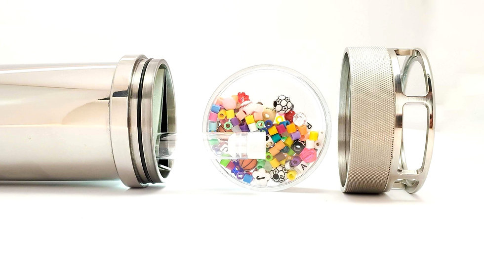 Beautiful Small Artisan Etched Stainless Steel Kaleidoscope with Cremation Tube