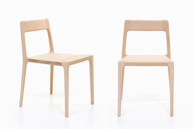 Serena stackable chair in solid wood