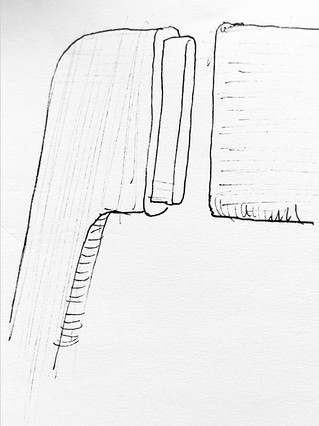 Sketch of chair joint