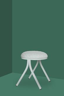 Palau Dotti low white stool