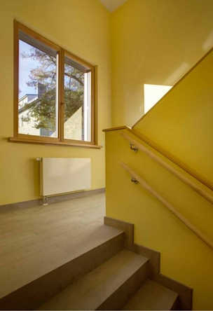 Yellow staircase at Sonnenhof Berlin