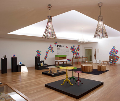 Exhibition view of POP's Serralves, competition won by the Maraca money bank