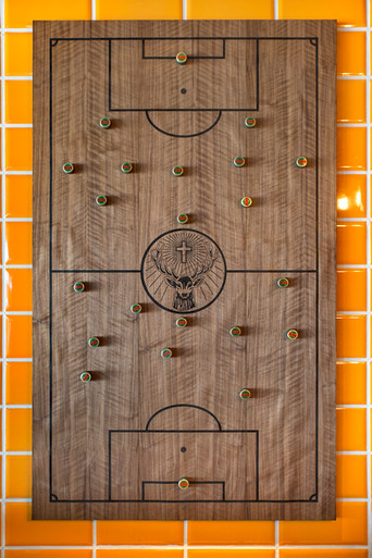 Jägermeister branded magnetic board for football tactics