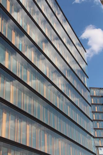 Glass fassade of the Erste Campus in Vienna (Wien)