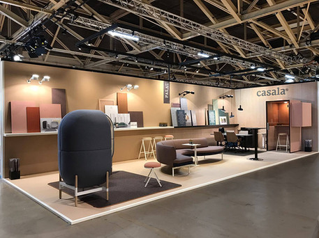 View of Palau Casala stand in furniture fair