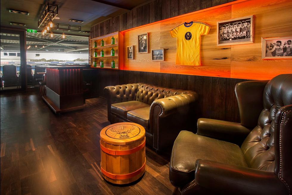 Chesterfield Lounge sofas in VIP-Lounge of Jägermeister