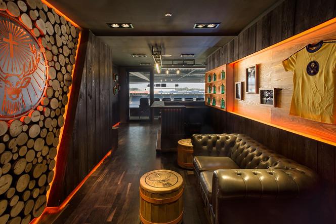 Jägermeister VIP-Lounge in Braunscheig with hut feeling