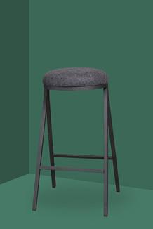 Palau Black bar stool Dotti