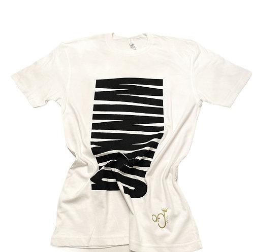 White and Shimmer Black Winning T-Shirt