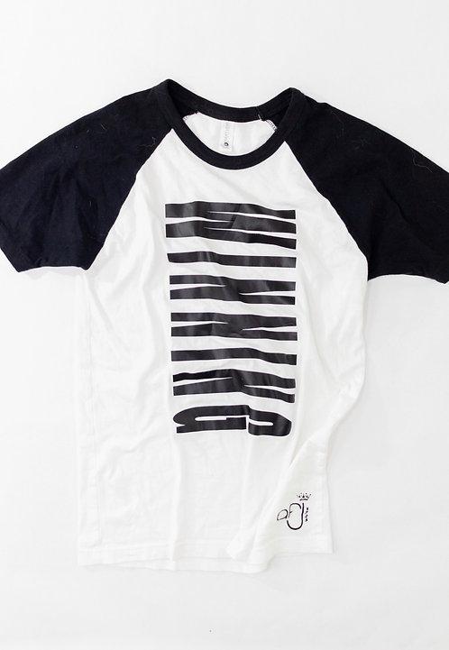 White and Black Winning Raglan T-Shirt