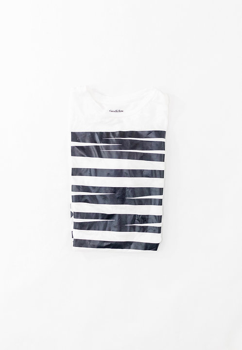 White and Black Winning Tee
