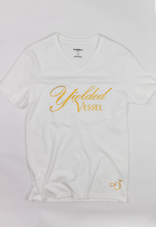 White and Gold Yielded Vessel T-Shirt