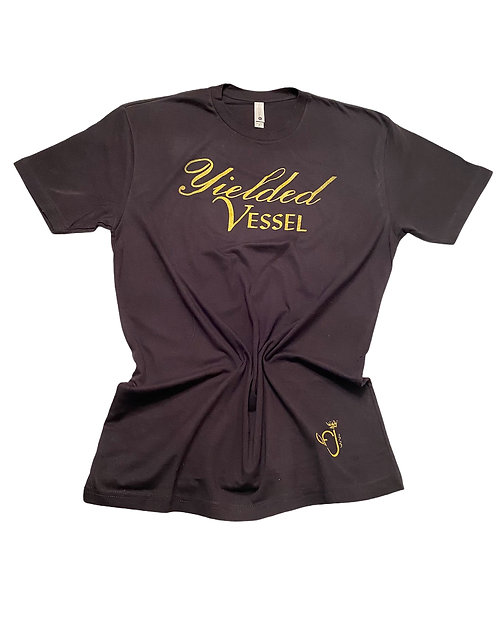 Black and Shimmer Gold Yielded Vessel T-Shirt