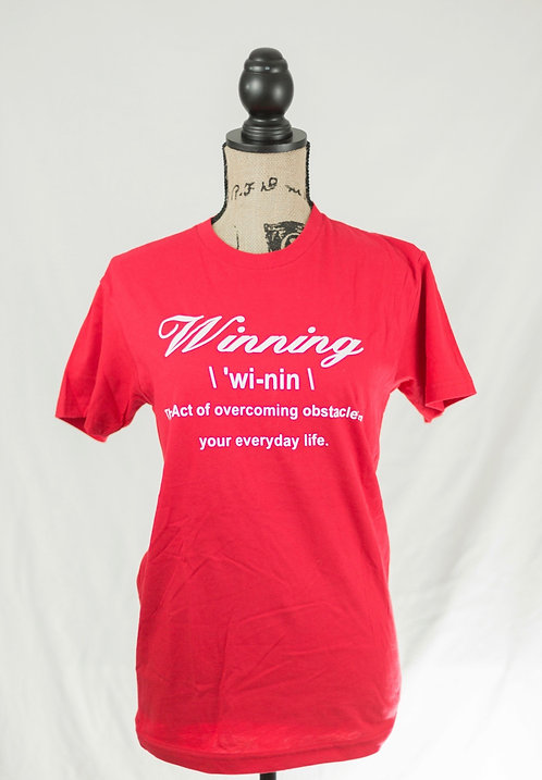 Red and White Winning Definition Tee